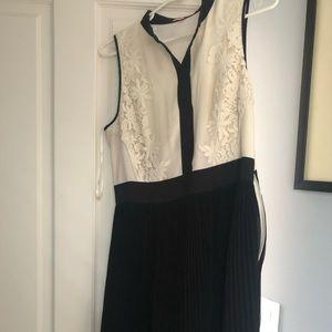 Ted Baker black and white dress